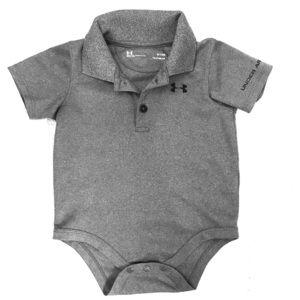 Grey Under Armour® Polo Bodysuit